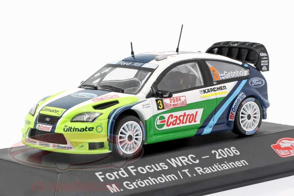 Ford Focus RS WRC 06 #3 ganador Rallye Monte Carlo 2006 Grönholm, Rautiainen 1:43 Atlas