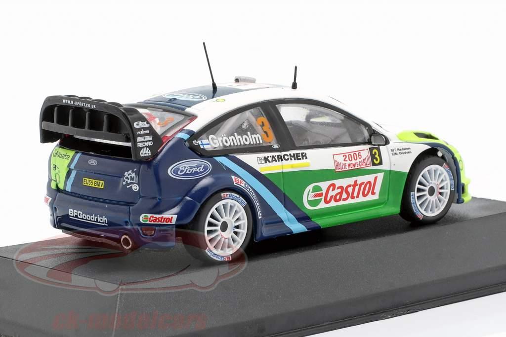 Ford Focus RS WRC 06 #3 vencedor Rallye Monte Carlo 2006 Grönholm, Rautiainen 1:43 Atlas