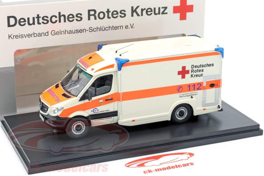 Mercedes-Benz Sprinter 319 cdi Miesen year 2018 German red cross 1:43 Matrix