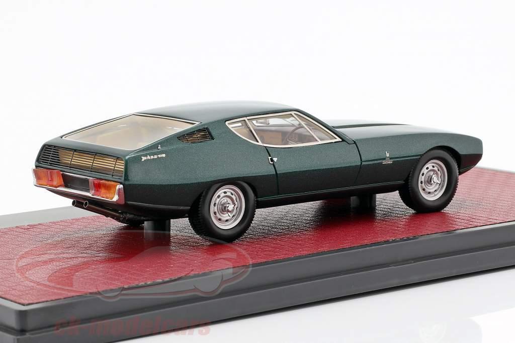 Jaguar Pirana Bertone anno di costruzione 1967 verde scuro metallico 1:43 Matrix