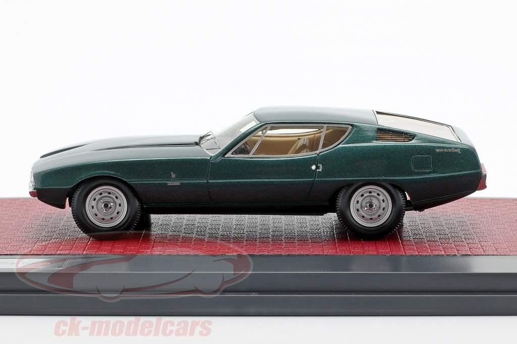 Jaguar Pirana Bertone year 1967 dark green metallic 1:43 Matrix