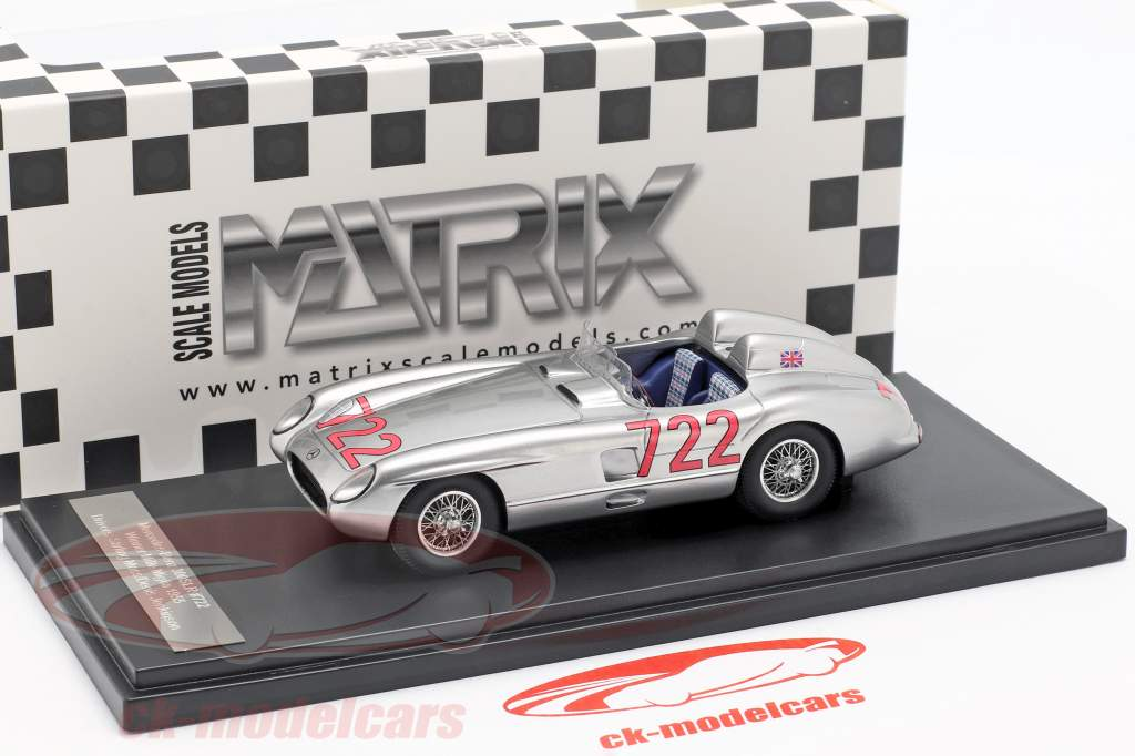 Mercedes-Benz 300 SLR #722 vincitore Mille Miglia 1955 Moss, Jenkinson 1:43 Matrix