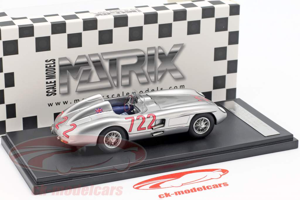 Mercedes-Benz 300 SLR #722 ganador Mille Miglia 1955 Moss, Jenkinson 1:43 Matrix