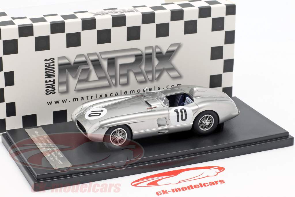 Mercedes-Benz 300 SLR #10 vincitore RAC Tourist Trophy Dundrod 1955 Moss, Fitch 1:43 Matrix