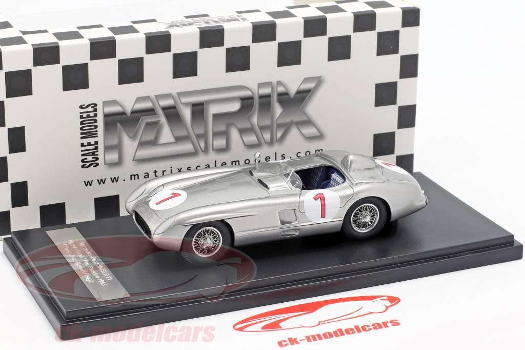Mercedes-Benz 300 SLR #1 gagnant Suède GP 1955 1:43 Matrix