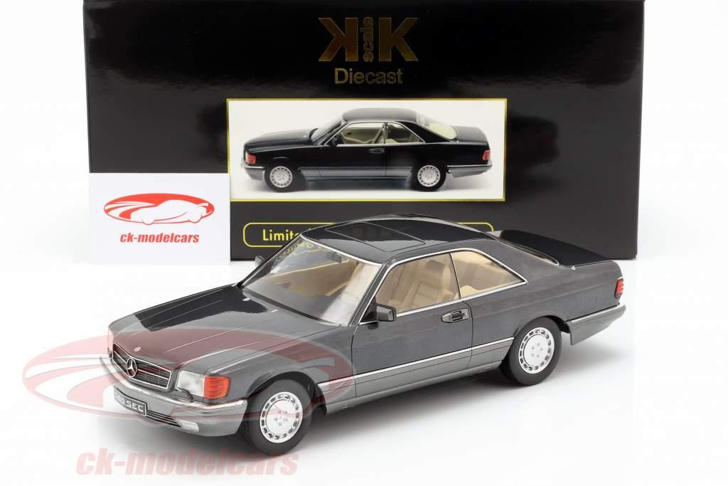 Mercedes-Benz 560 SEC C126 année de construction 1985 anthracite 1:18 KK-Scale