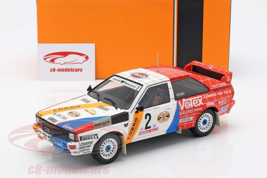 Audi Quattro A1 #2 ganador Hunsrück Rallye 1984 Demuth, Lux 1:18 Ixo