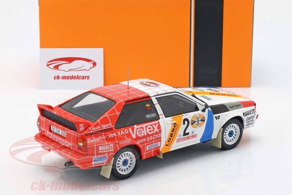 Audi Quattro A1 #2 gagnant Hunsrück Rallye 1984 Demuth, Lux 1:18 Ixo