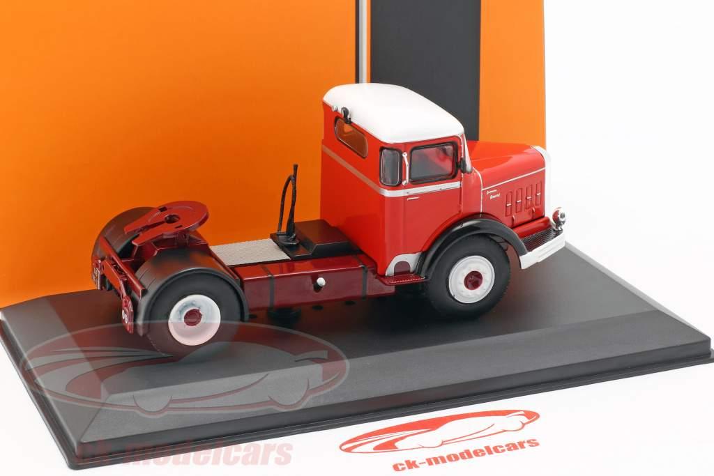 Bernard 150 MB camion année de construction 1951 rouge / blanc 1:43 Ixo