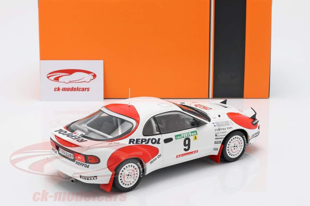 Toyota Celica GT-4 (ST185) #9 4. Rallye Portugal 1992 Alen, Kivimäki 1:18 Ixo
