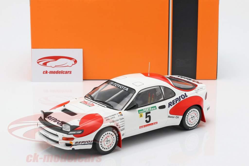 Toyota Celica GT-4 (ST185) #5 Rallye Portogallo 1992 Schwarz, Hertz 1:18 Ixo