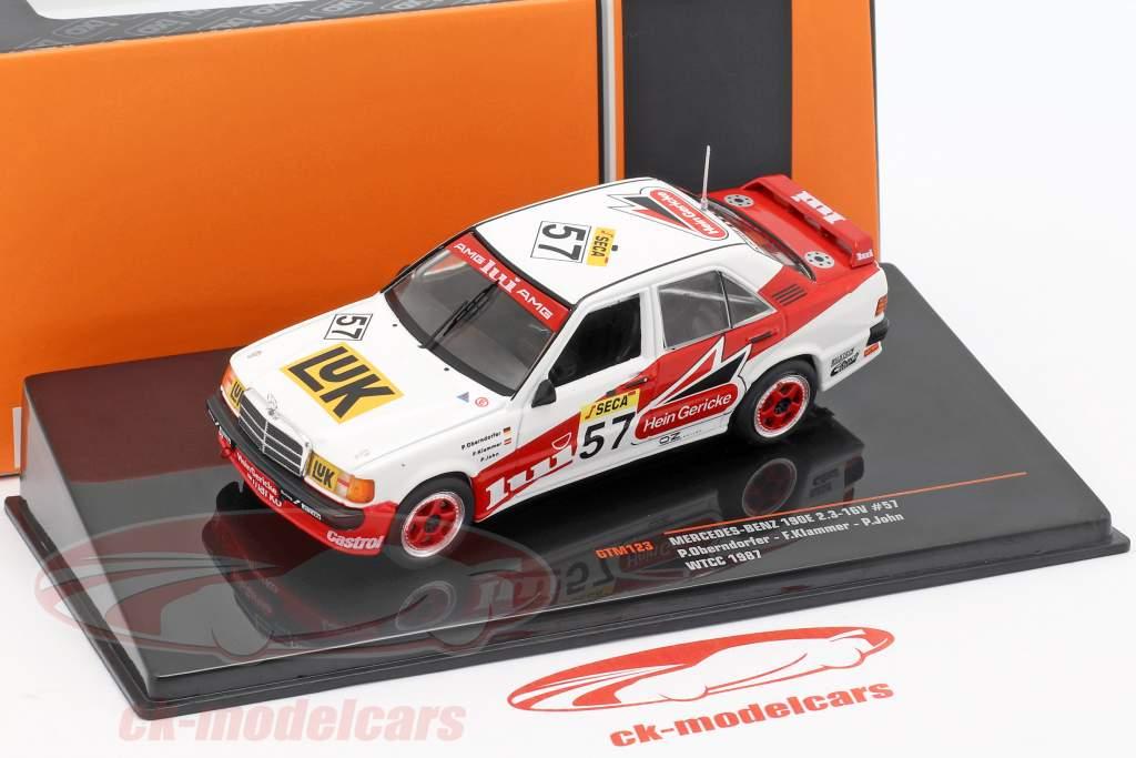 Mercedes-Benz 190E 2.3-16V #57 WTCC 1987 Oberndorfer, Klammer, John 1:43 Ixo