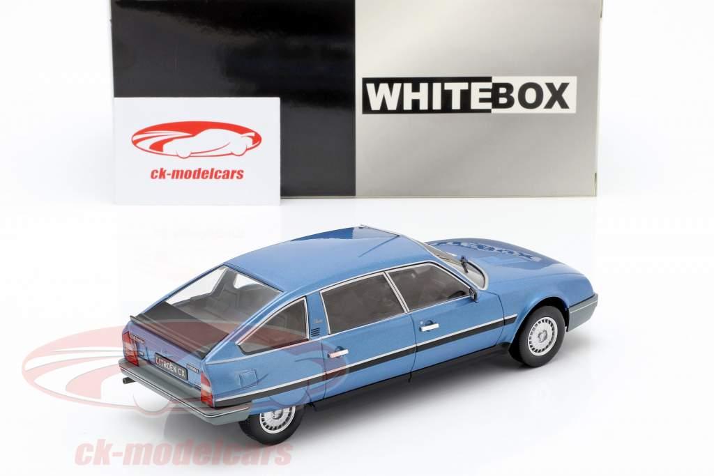 Citroen CX 2500 Prestige Phase 2 anno di costruzione 1986 blu metallico 1:24 WhiteBox