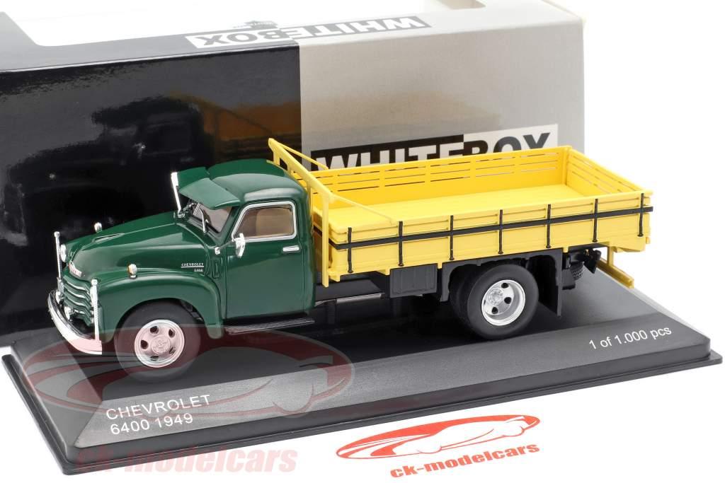 Chevrolet 6400 ladvogn Opførselsår 1949 grøn / gul 1:43 WhiteBox