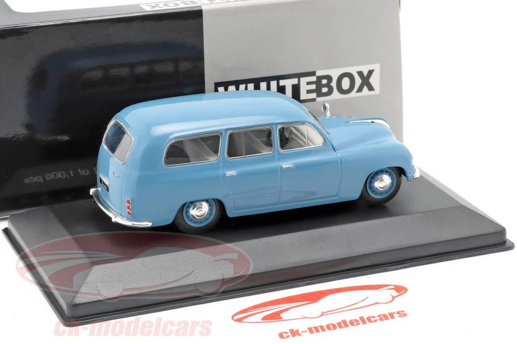 Skoda 1201 station wagon ano de construção 1954 azul 1:43 WhiteBox