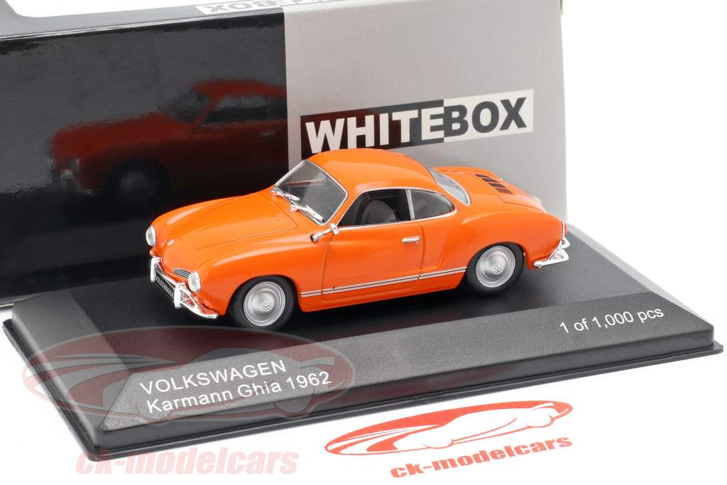 Volkswagen VW Karmann Ghia year 1962 orange 1:43 WhiteBox