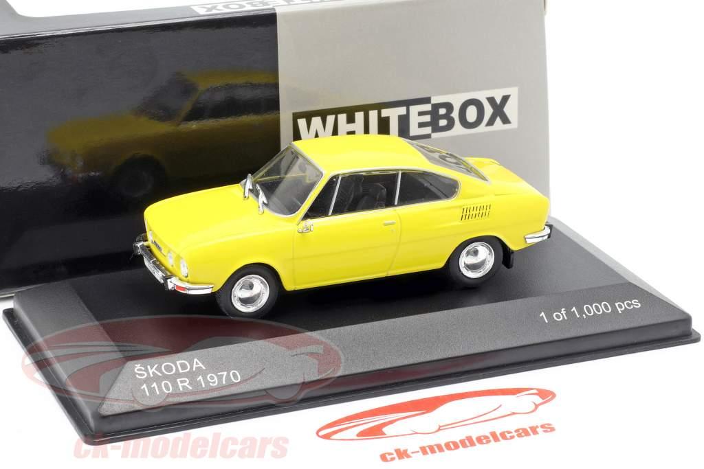 Skoda 110R  year 1970 yellow 1:43 WhiteBox