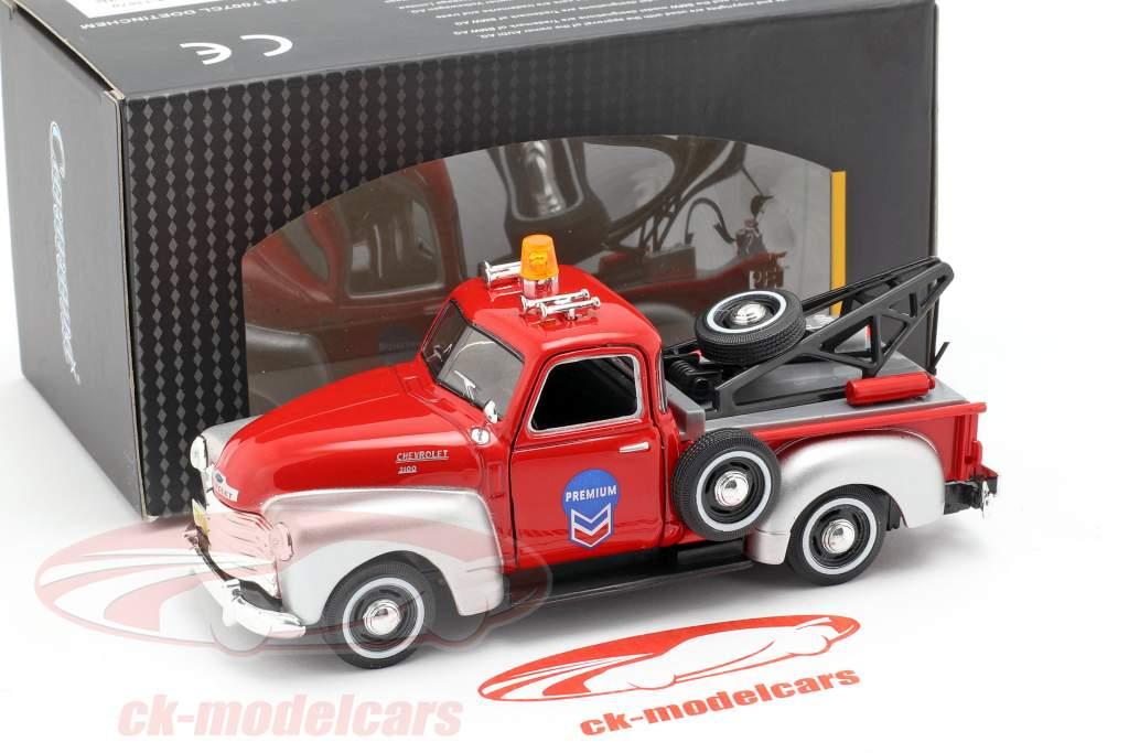Chevrolet C3100 tow lastbil rød / sølv 1:43 Cararama