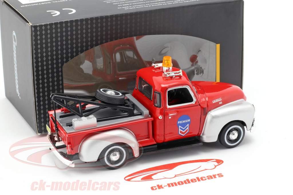 Chevrolet C3100 Abschleppwagen rot / silber 1:43 Cararama