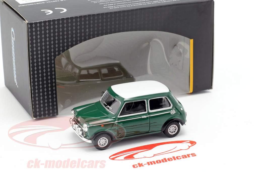 Mini Cooper med væddeløb lamper grøn / hvid 1:43 Cararama
