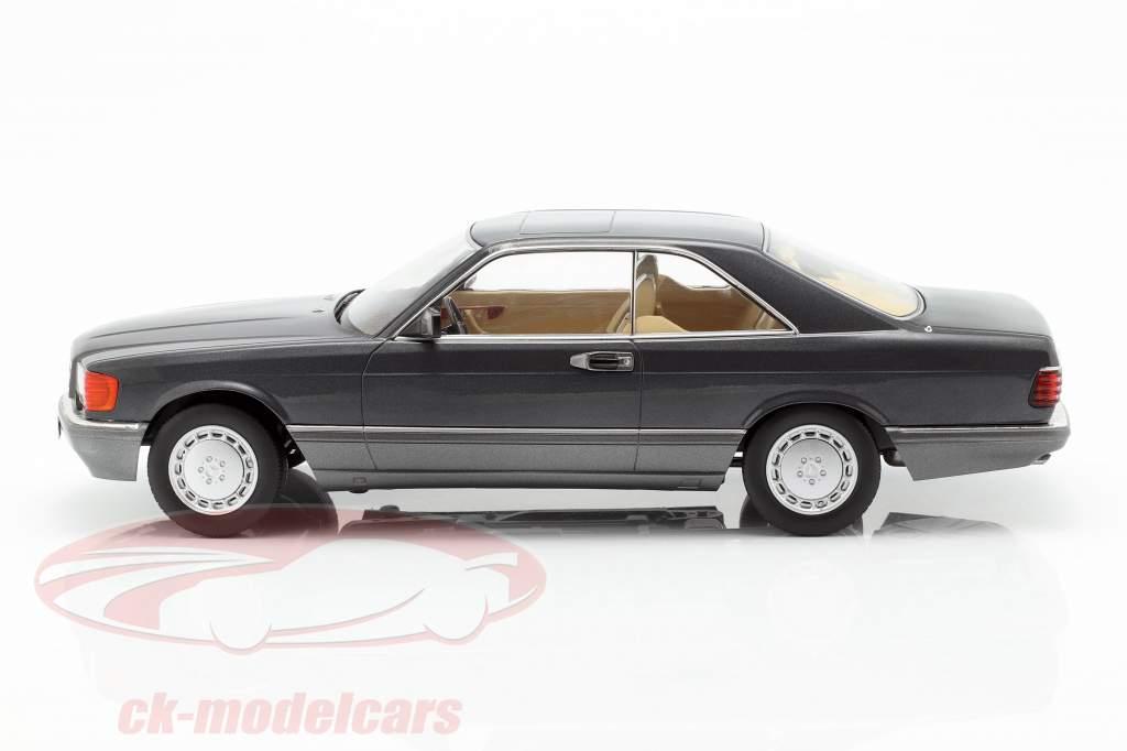 Mercedes-Benz 560 SEC C126 ano de construção 1985 antracite 1:18 KK-Scale
