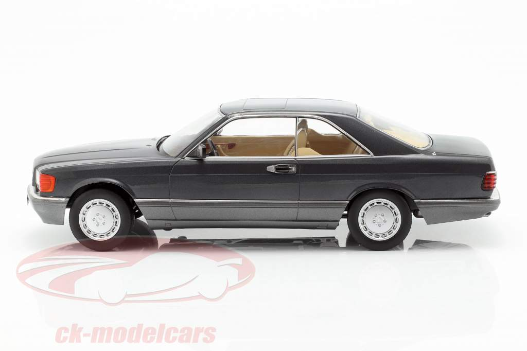 Mercedes-Benz 560 SEC C126 year 1985 anthracite 1:18 KK-Scale