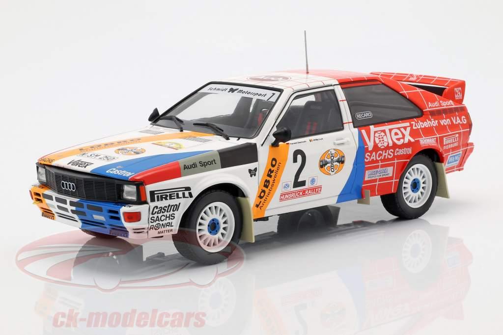 Audi Quattro A1 #2 vincitore Hunsrück Rallye 1984 Demuth, Lux 1:18 Ixo