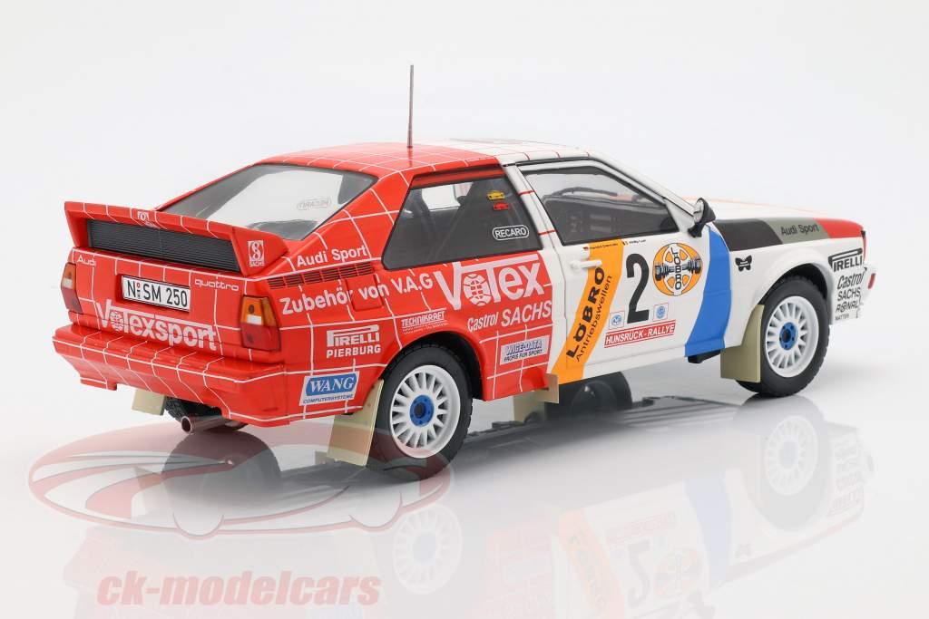 Audi Quattro A1 #2 winner Hunsrück Rallye 1984 Demuth, Lux 1:18 Ixo