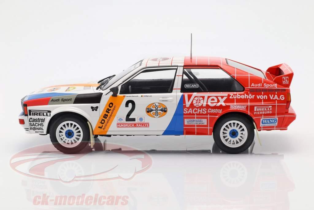Audi Quattro A1 #2 vinder Hunsrück Rallye 1984 Demuth, Lux 1:18 Ixo