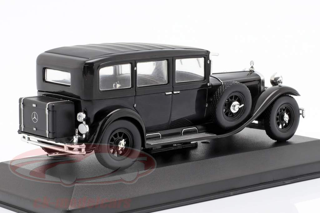 Mercedes-Benz tipo Nürburg 460 (W08) ano de construção 1929 preto 1:43 WhiteBox