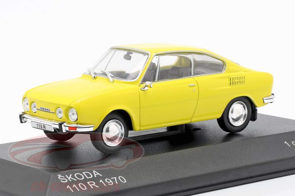 Skoda 110R ano de construção 1970 amarelo 1:43 WhiteBox