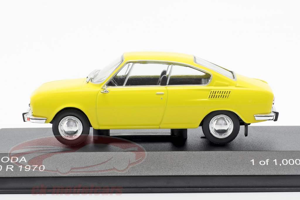 Skoda 110R anno di costruzione 1970 giallo 1:43 WhiteBox