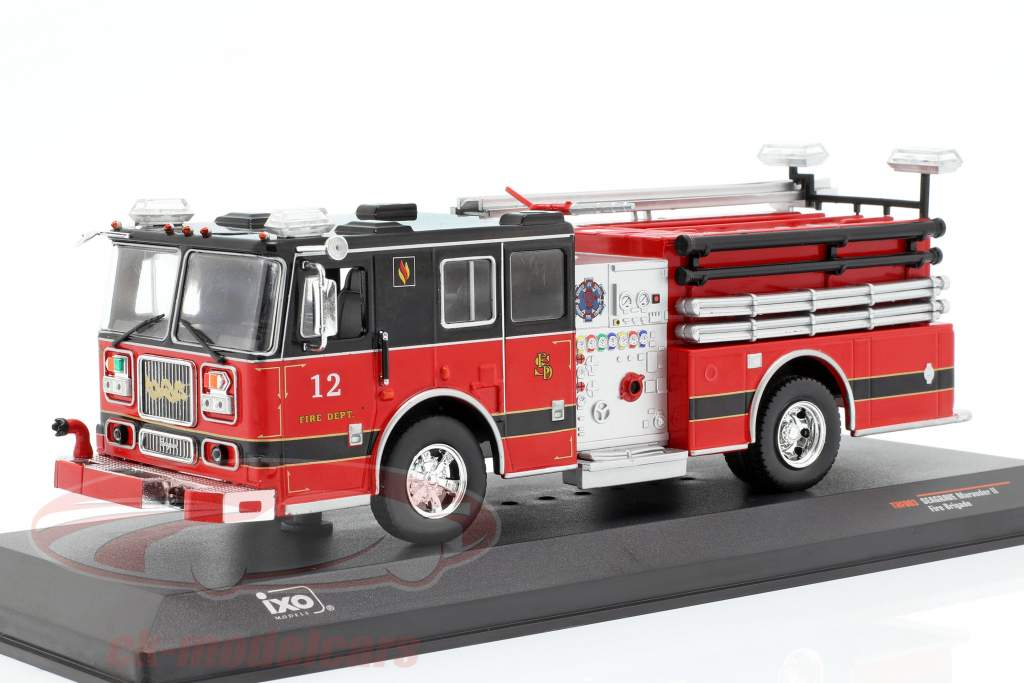 Seagrave Marauder II fire Department red / black 1:43 Ixo