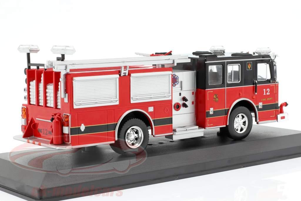 Seagrave Marauder II departamento de bomberos rojo / negro 1:43 Ixo