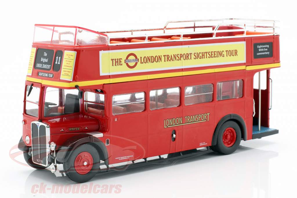 AEC Regent RT Open Top London Sightseeing Opførselsår 1950 rød 1:43 Ixo