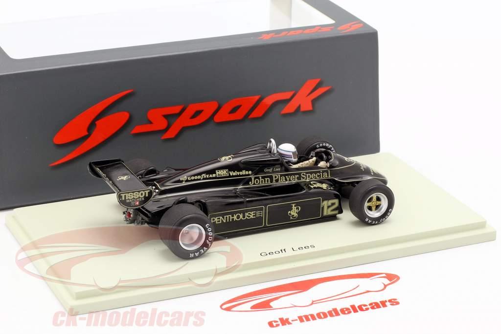Geoff Lees Lotus 91 #12 Frans GP formule 1 1982 1:43 Spark