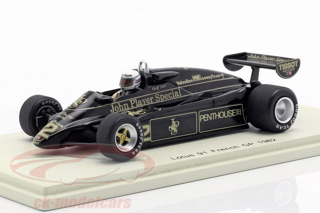 Geoff Lees Lotus 91 #12 fransk GP formel 1 1982 1:43 Spark