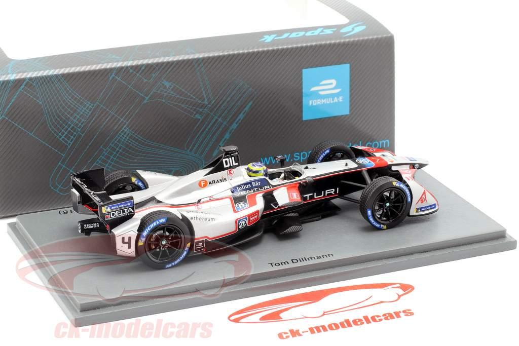 Tom Dillmann Venturi VM200-FR-03 #4 New York ePrix fórmula E 2017/18 1:43 Spark