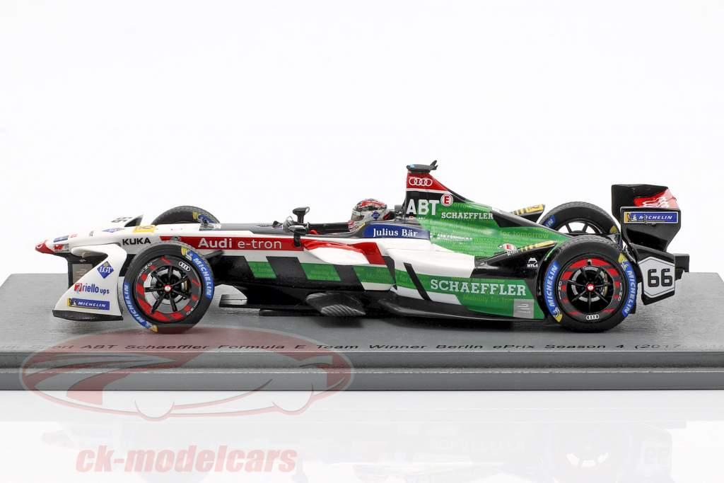 Daniel Abt Audi e-tron FE04 #66 ganador Berlín ePrix fórmula E 2017/18 1:43 Spark