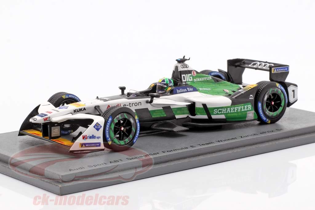 L. di Grassi Audi e-tron FE04 #1 winnaar Zurich ePrix formule E 2017/18 1:43 Spark