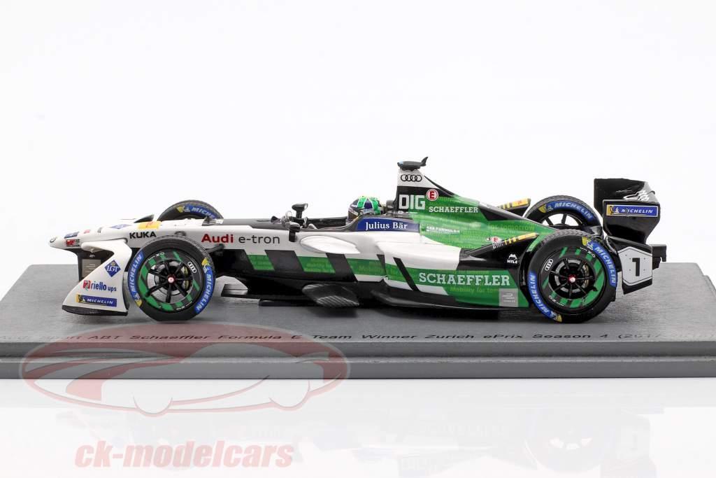 L. di Grassi Audi e-tron FE04 #1 vencedor Zurique ePrix fórmula E 2017/18 1:43 Spark