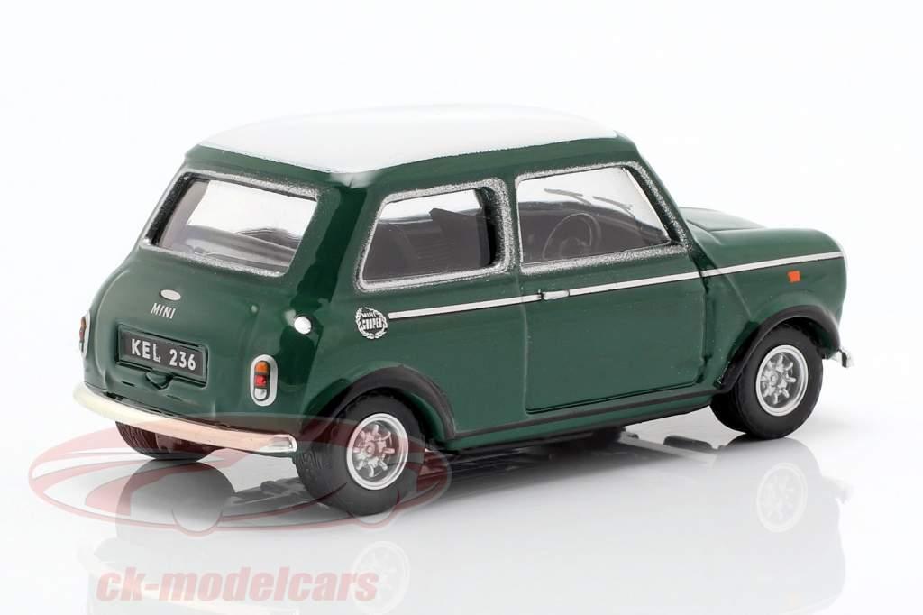 Mini Cooper con corsa lampade verde / bianco 1:43 Cararama