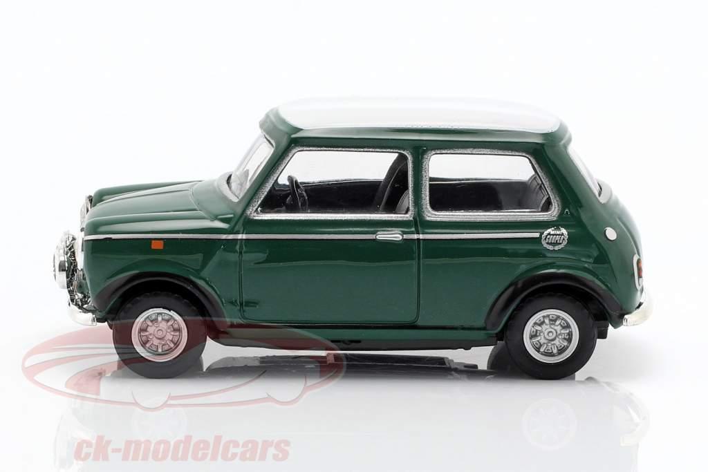 Mini Cooper con carreras lámparas verde / blanco 1:43 Cararama