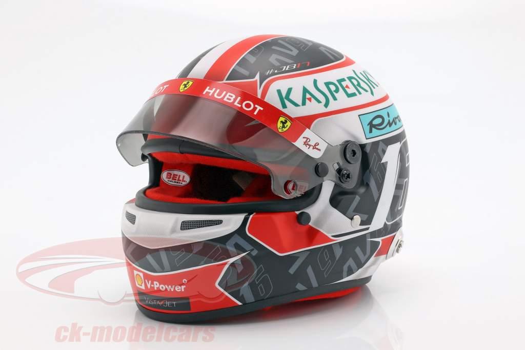 Charles Leclerc Ferrari SF90 #16 fórmula 1 2019 casco 1:2 Bell