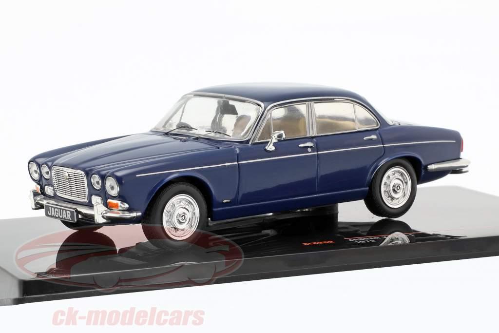 Jaguar XJ MK I RHD Opførselsår 1972 mørkeblå 1:43 Ixo