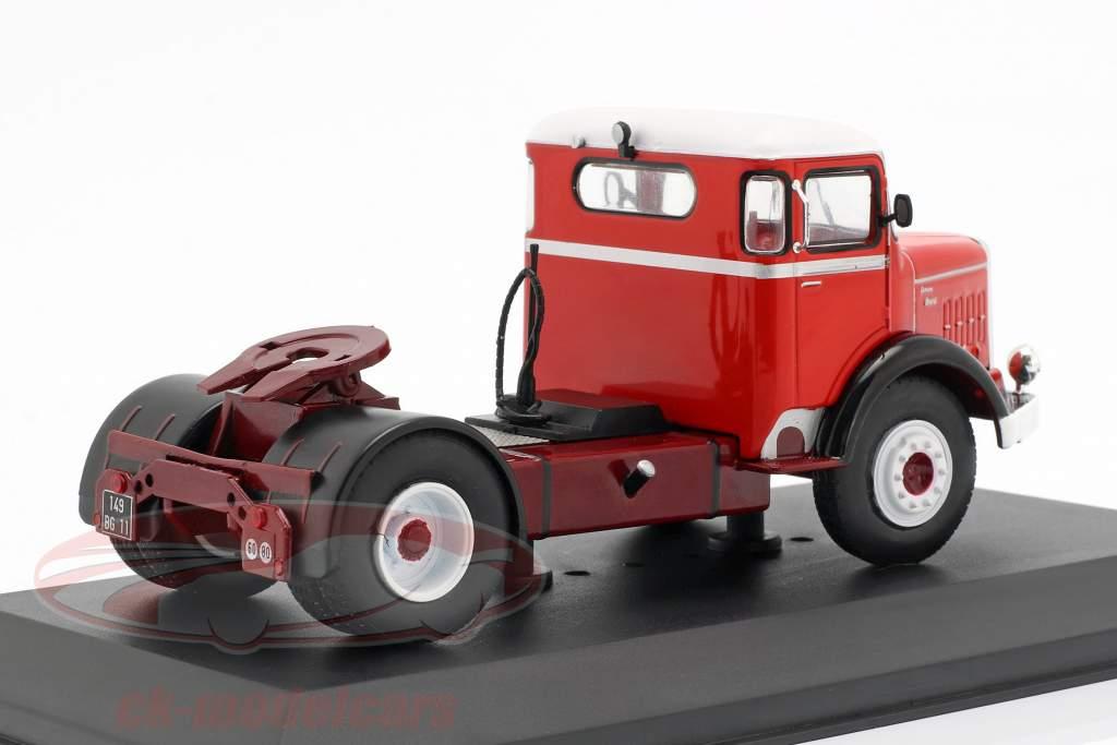 Bernard 150 MB lastbil Opførselsår 1951 rød / hvid 1:43 Ixo