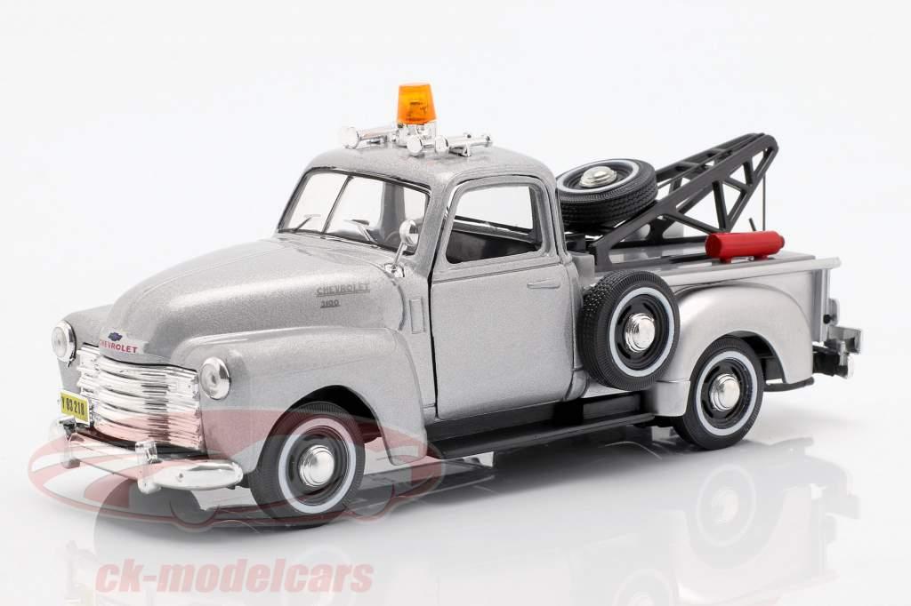 Chevrolet C3100 Trækvogn sølv metallic 1:43 Cararama