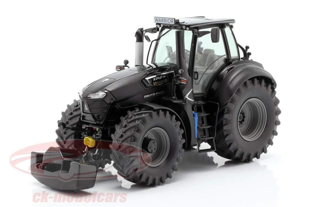 Deutz-Fahr 9340 TTV Warrior tractor zwart 1:32 Schuco