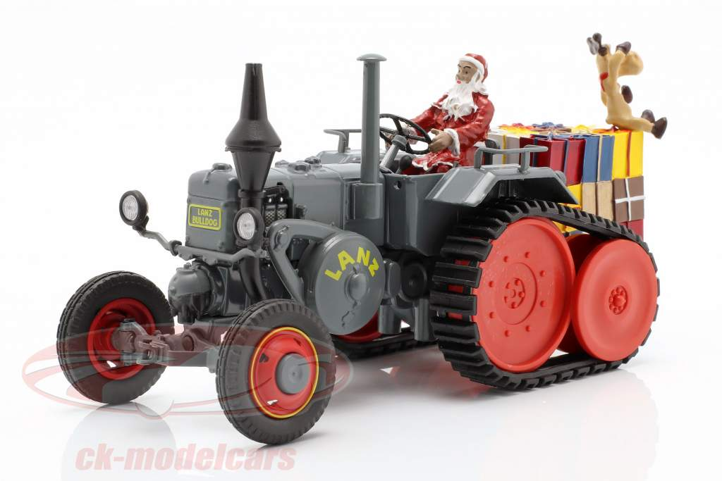 Lanz Bulldog with caterpillar Christmas 2018 grey 1:32