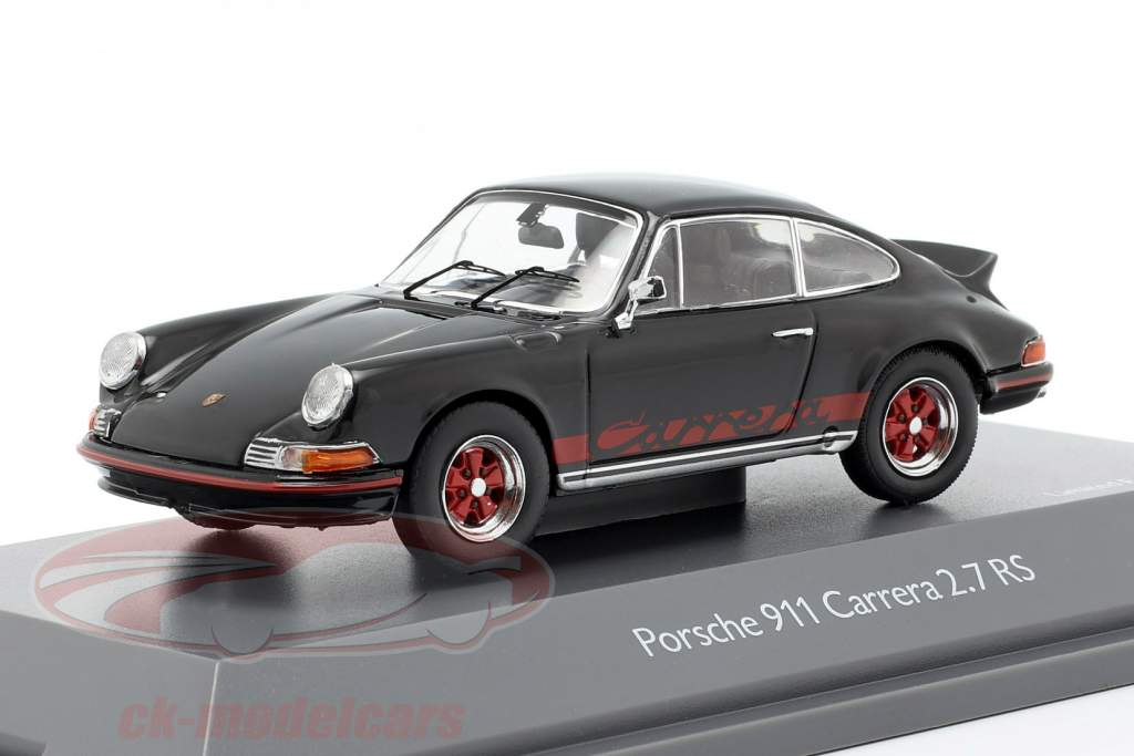 Porsche 911 Carrera 2.7 RS Opførselsår 1973 sort 1:43 Schuco